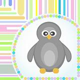 Template frame design for penguin greeting card Various purposes Vector