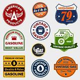 Vintage retro gas signs