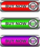 Metallic Buy now button set