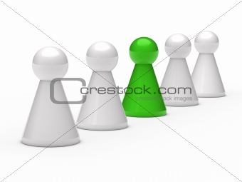 3d figure leadership