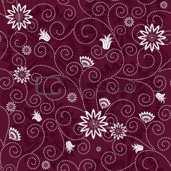 Purple effortless floral pattern