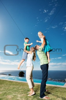 Family having great time together