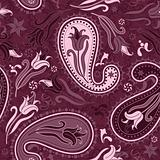 Purple repeating floral pattern
