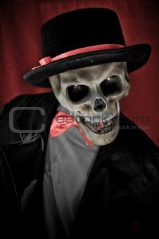 Skeleton in suite portrait