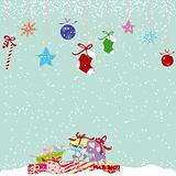 Christmas greeting card colorful present