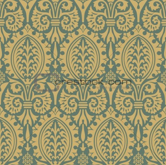 Classic seamless pattern yellow