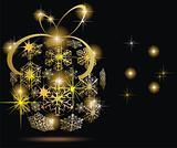 elegant christmas background with balls