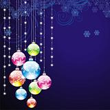 elegant christmas background with balls