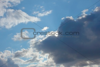 Beautiful autumn cloudscape