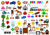 70 various icons and elements