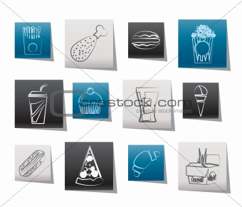 fast food and drink icons