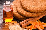 Cookies with cinnamon and orange
