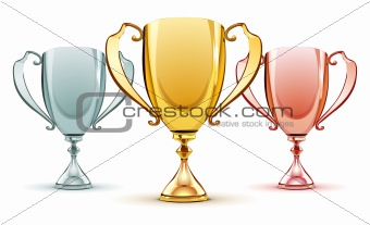 three trophies