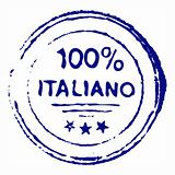 Hundred percent italian ink stamp