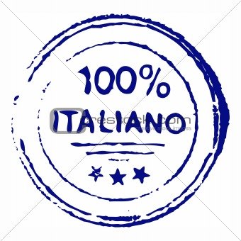 Hundred percent italian ink stamp