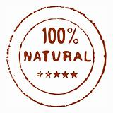 Hundred percent natural ink stamp