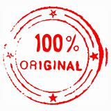 Hundred percent original ink stamp