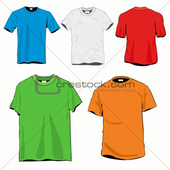 5 T-shirts Template Set