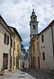 Alleyway. Compiano. Emilia-Romagna. Italy.