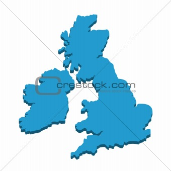 3D map of the UK