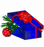 blue Christmas box