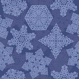 Decorative seamless pattern with christmas snowflakes. Vector illustration.