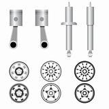 Icons set Auto parts