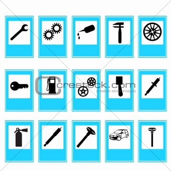 Auto Car Repair Service Icon Symbol