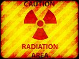 Grunge radiation warning