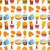 seamless fast food pattern