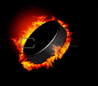 Hockey Puck and_Fire