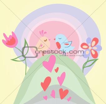 Tiny love bird