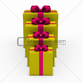 3d green gift small to big