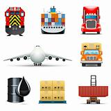 Shipping and cargo icons | Bella series