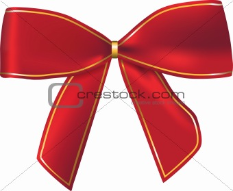 Red beautiful bow