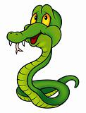 Green Smiling Snake