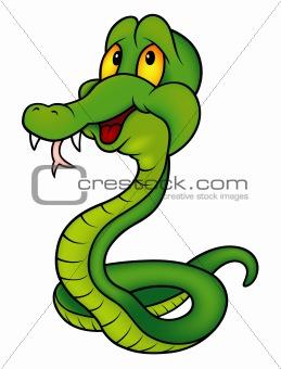 Green Smiling Snake
