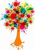 Blot abstract tree, vector