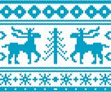 Seamless knitted christmas pattern, vector