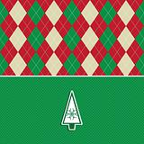 christmas tree argyle pattern background