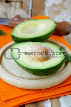 fresh and ripe cut avocado