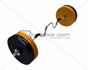3D render of bench press weights