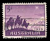 Australian post stamp