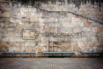 Aged wall background
