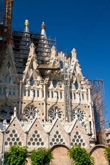 BARCELONA, SPAIN - May 23: La Sagrada Familia - the impressive c