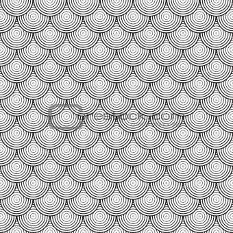 Seamless abstract texture - vector circles background