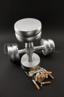 cigarettes crushed Dumbbell