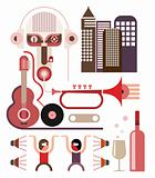 Dancing Party - vector illustration