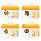 halloween calendar icons