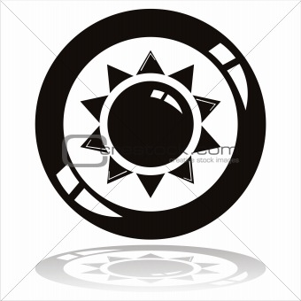 black sun button